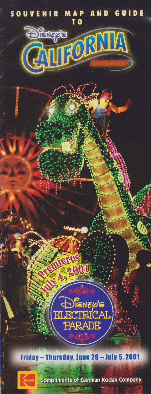 Florida Dca Map.Disney Ephemera 2001 Disney S California Adventure Guide Map