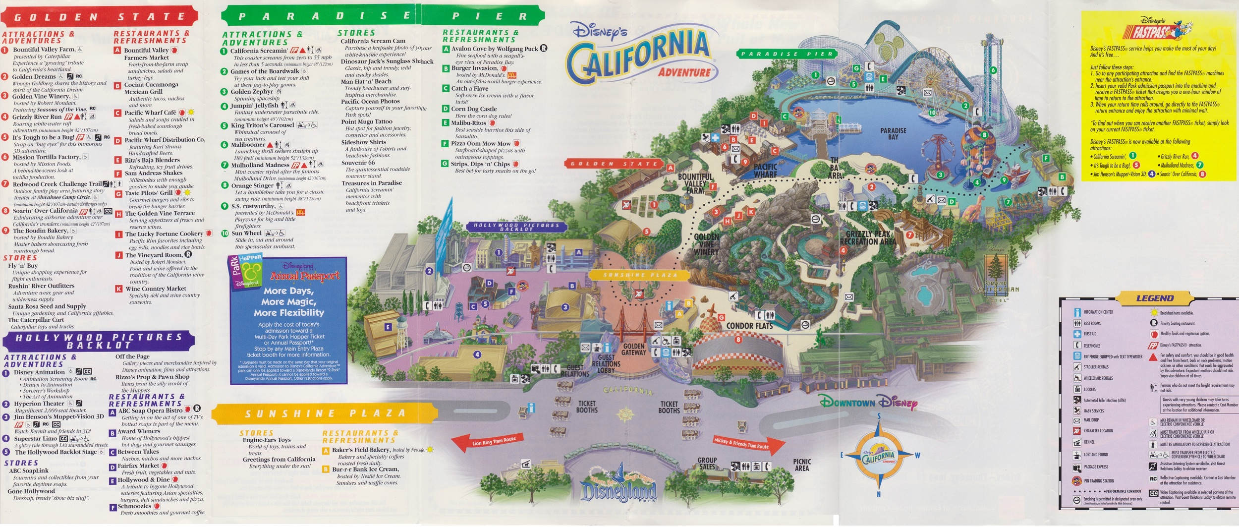 Looking at this map it's almost unbelievable that the park opened ...