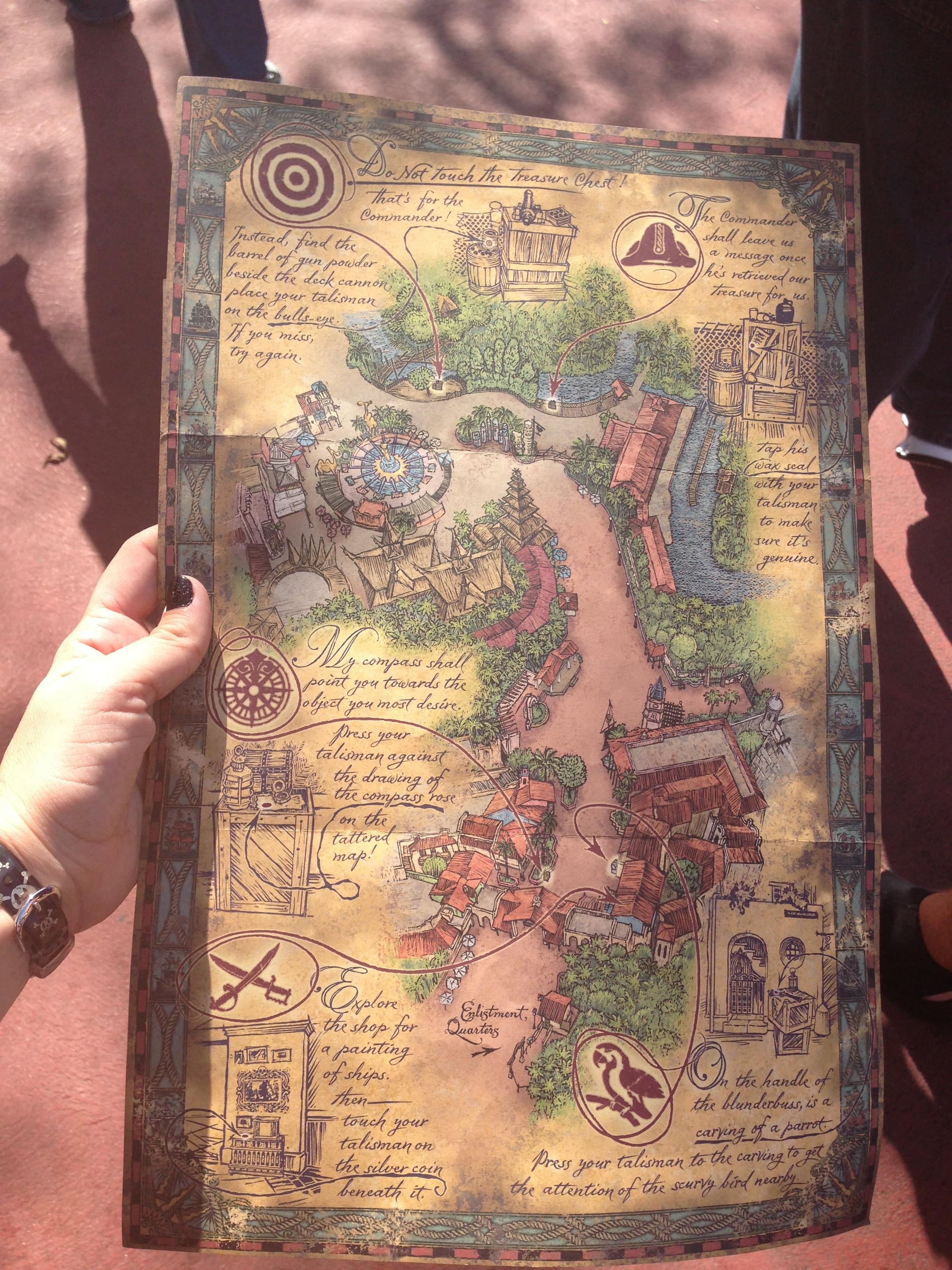 Adventureland Disney World Map.A Pirate S Adventure Treasure Of The Seven Seas Play Test