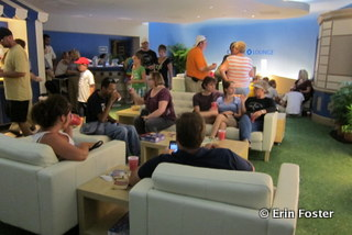 Free lounge with snacks at the Epcot Food & Wine Festival for Disney Visa holders.