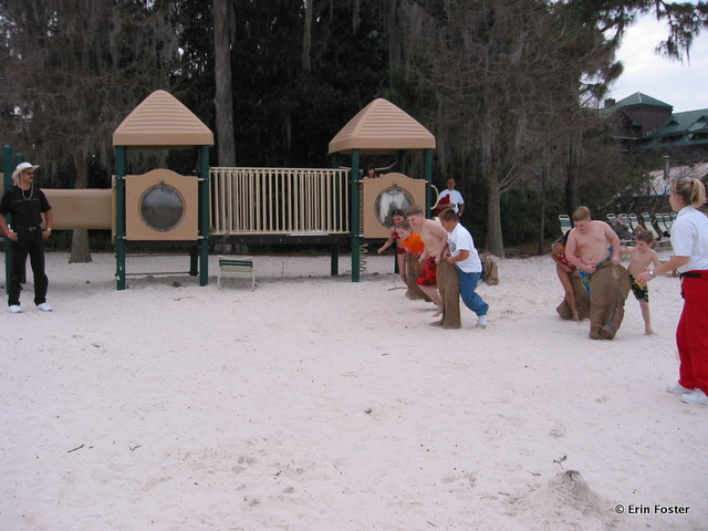 Wilderness Lodge, playground with beach games