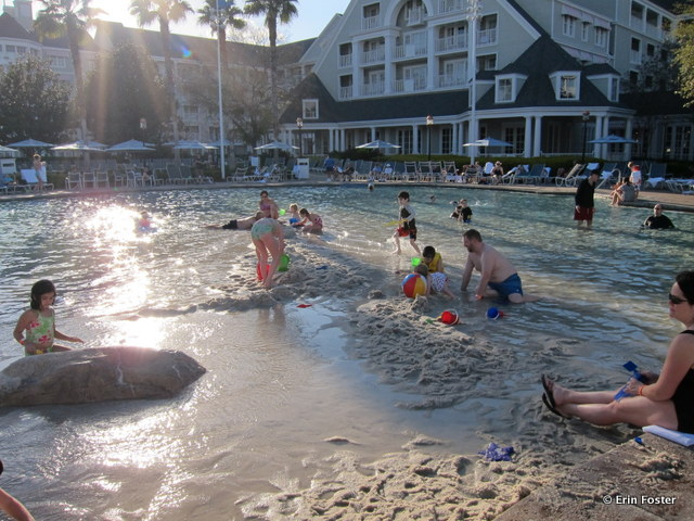 Yacht & Beach Club Stormalong Bay, sand bottom area, the de facto kiddie pool