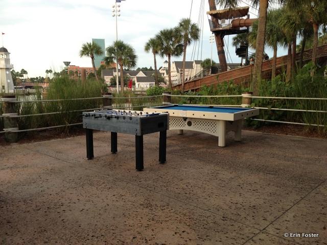 Yacht & Beach Club, foos ball and billiards near the pool