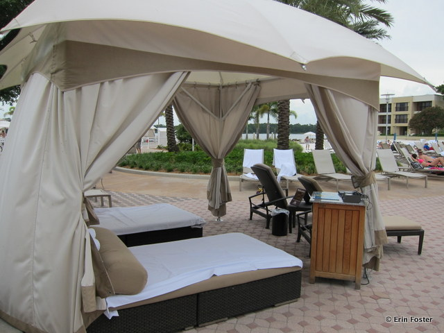 Contemporary, main pool, deluxe cabana rental