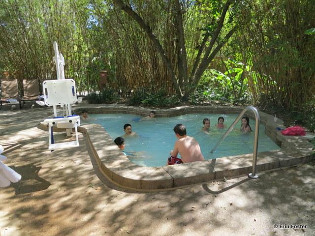 Animal Kingdom Lodge, Jambo, hot tub