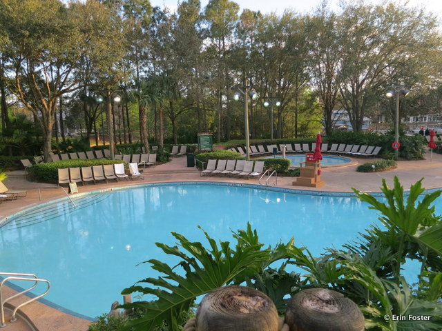 Port Orleans Riverside, Ol' Man Island feature pool with kiddie pool in the background