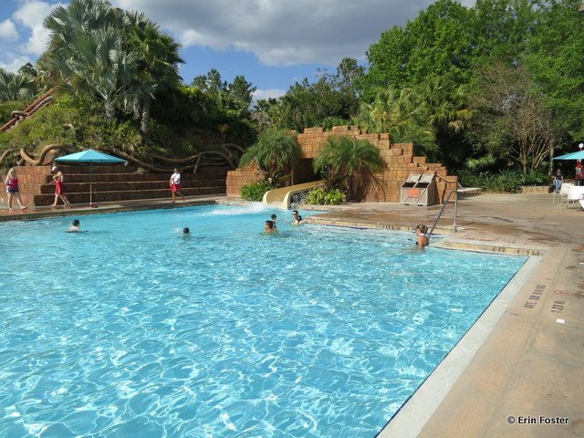 Coronado Springs Resort, pool slide exit area