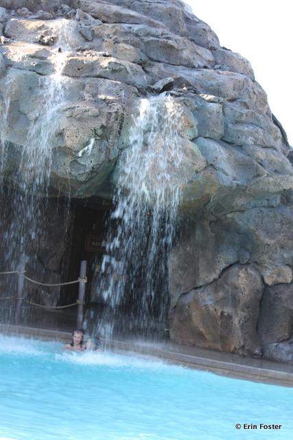 Polynesian, volcano pool, waterfall feature