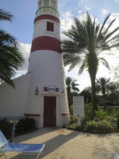 Old Key West, poolside sauna building
