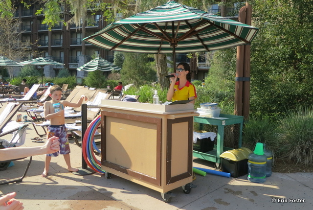 Wilderness Lodge, poolside activities