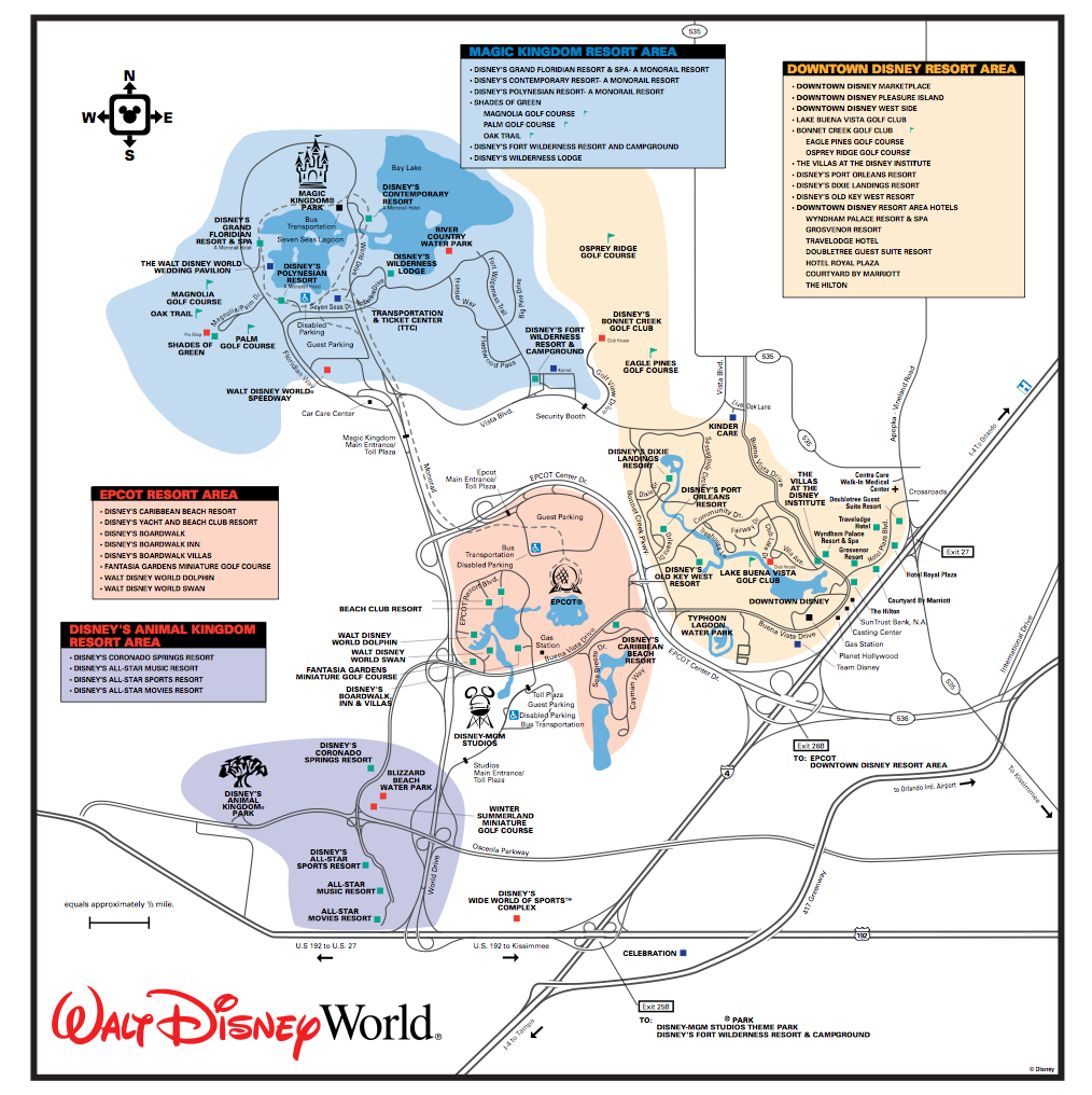 Disney Monorail Map Get to Know the Disney World Transportation and Ticket Center (TTC  Disney Monorail Map