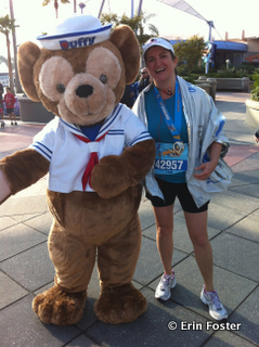 There are many characters available during the RunDisney races that are much more unique and memorable than Mr. D. I was just too tired to stop for them. :-)