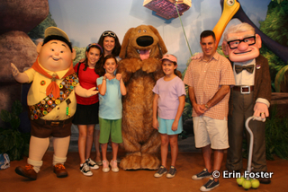 """Characters from new movies will usually appear at Disney's Hollywood Studios. This was taken at DHS right after """"Up"""" was released."""