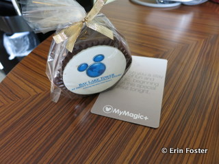 """A MyMagic+ """"Thank You"""" gift left in our room during our testing. Yummy!"""