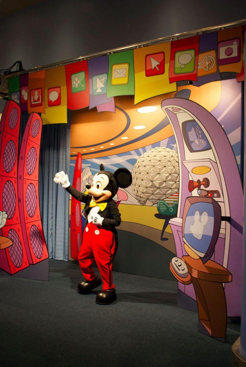 Mickey meets and greets at Epcot Character Spot