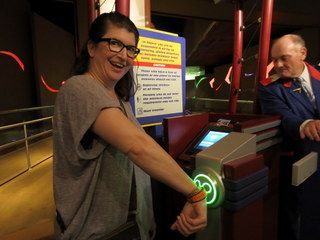 Using a MagicBand as a FastPass for Soarin'