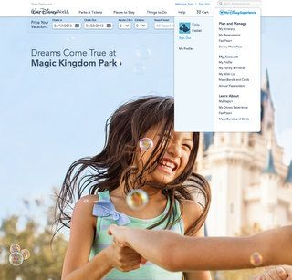 Manage your MagicBand via the MyDisneyExperience tab on the Disney World website
