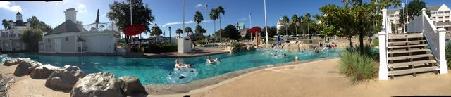 Panorama look at the lazy river