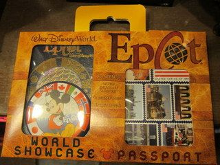 Epcot Passport pack. Get your passport stamped at the Kidcot Fun Stops.