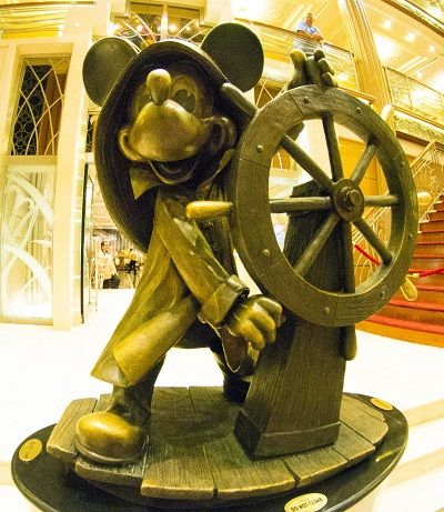 Disney Cruise Line's Helmsman Mickey Statue on the Disney Magic