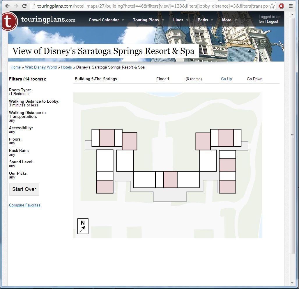 your hotel room views at disney u0027s saratoga springs resort