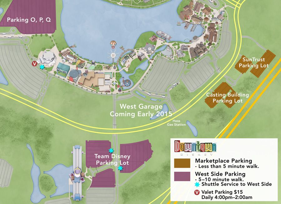 Downtown Disney Parking Map, October 2013