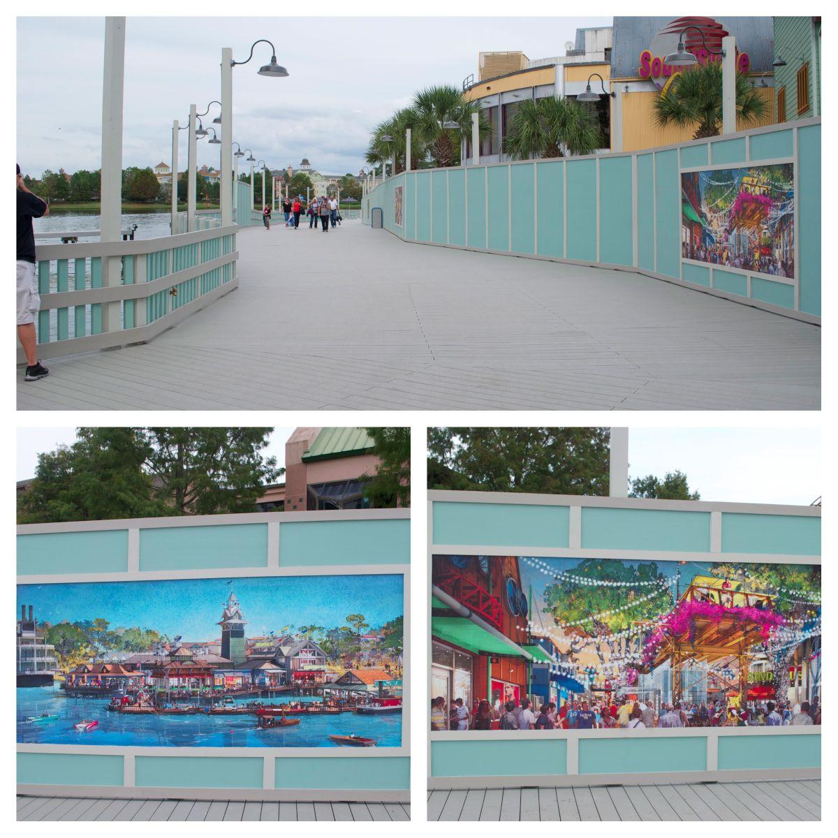 Pleasure Island bypass bridge collage