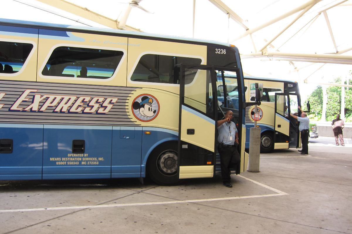 If you're staying on Disney property, you qualify for free transportation from the airport to your hotel.