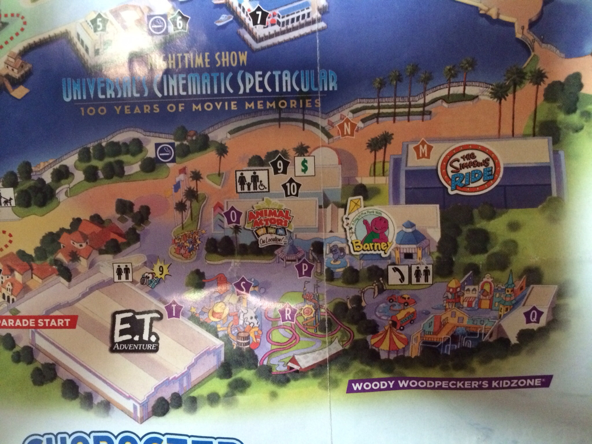 Universal Orlando Park Map Adds Springfield Attractions