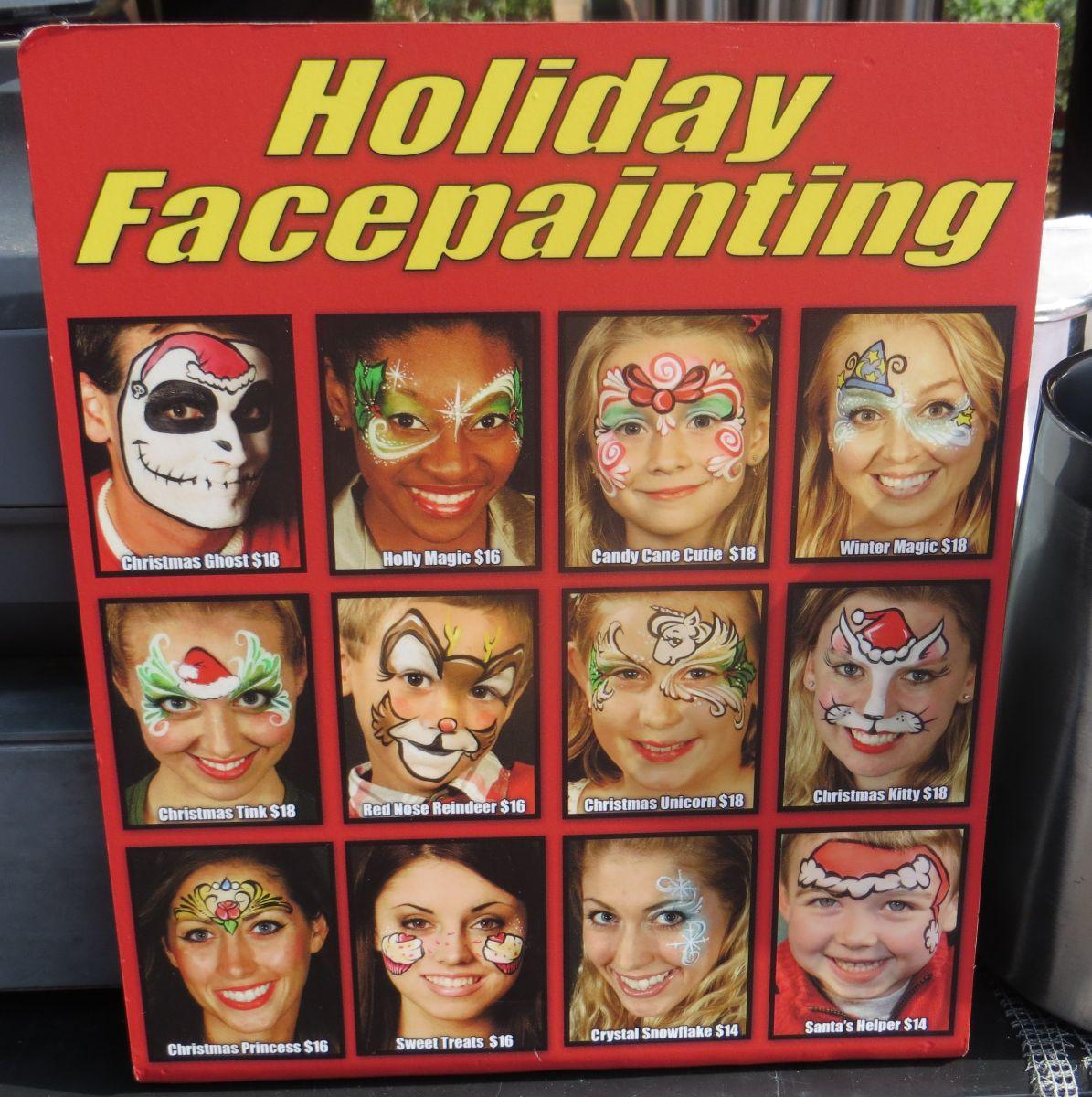 Special Holiday designs.