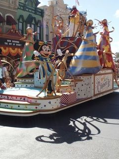"The ""Move It, Shake It, Celebrate It"" parade at the Magic Kingdom acknowledges the great number of guests who are celebrating something at Walt Disney World."
