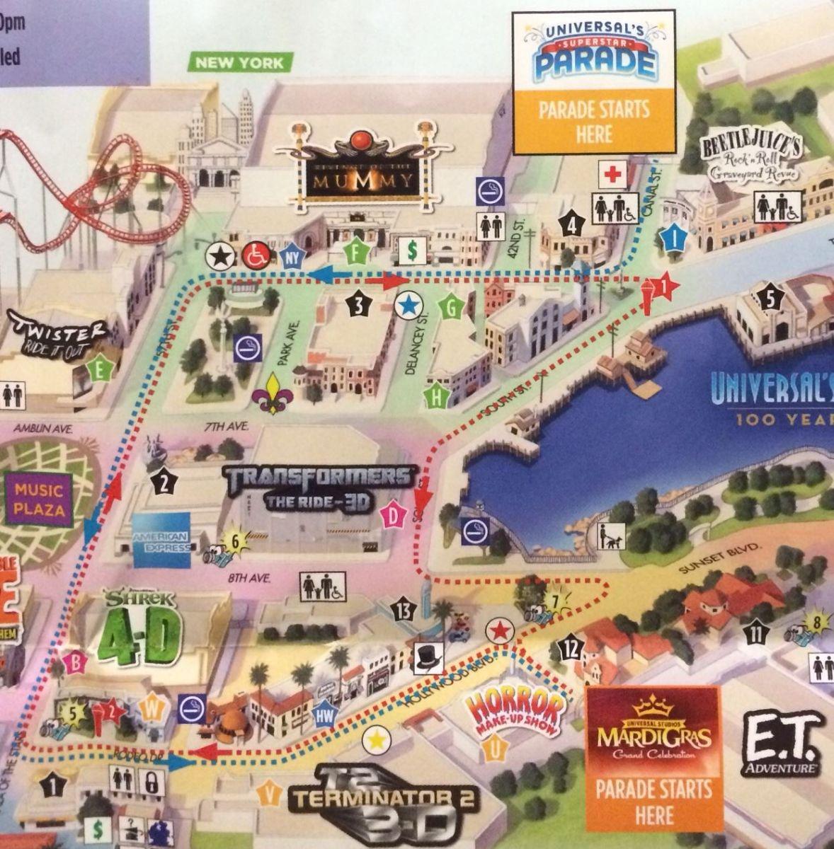 Universal Studios Florida Mardi Gras 2014 Parade Video