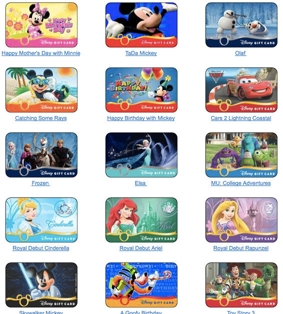 Disney Gift Cards 101