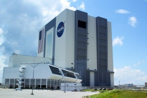 The Vehicle Assembly Building and Flight Control Center at Kennedy Space Center.