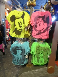 Neon Mickey shirts are super cute, but will you really wear them at home?