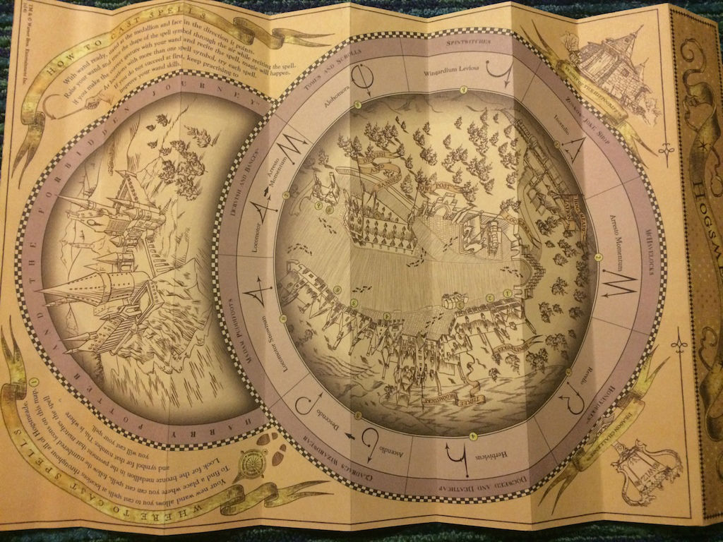 Hogsmeade Side Of The Map (photo By Seth Kubersky) InteractiveWands