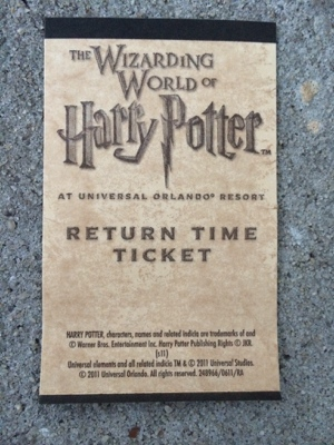 Wizarding World return ticket