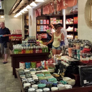 Dishes and Snack Area of Mitsukoshi at Epcot, the perfect Epcot Snacks