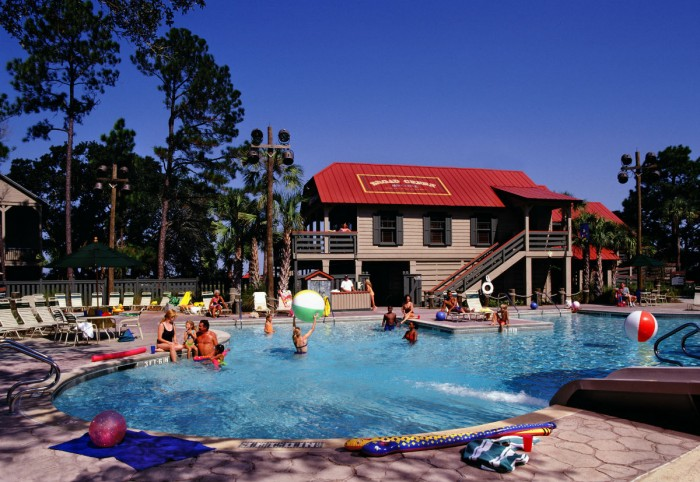 The pool at Hilton Head Resort