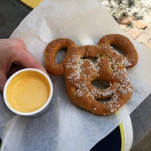 Mickey Pretzel and Plastic Cheese