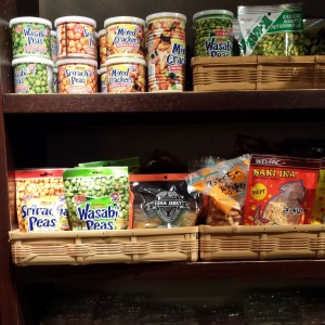 Peas and Nuts and dried squid at epcot