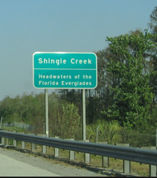 A sign on SR-528, near John Young Parkway, reminds Florida residents and visitors alike that the Everglades is all around.