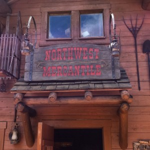 northwest mercantile sign over the door entrance in Epcot's World Showcase, Canada