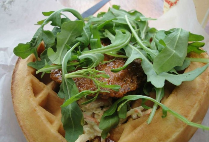Sweet and Spicy Chicken Waffle at Sleepy Hollow Refreshments