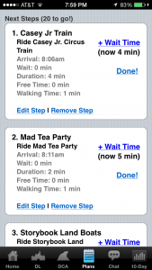 Optimized Touring Plan on Lines app - Natalie Reinert
