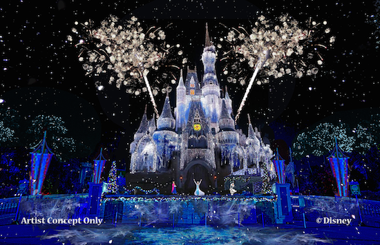 Details On The Updated Cinderella Castle Lighting Show A Frozen