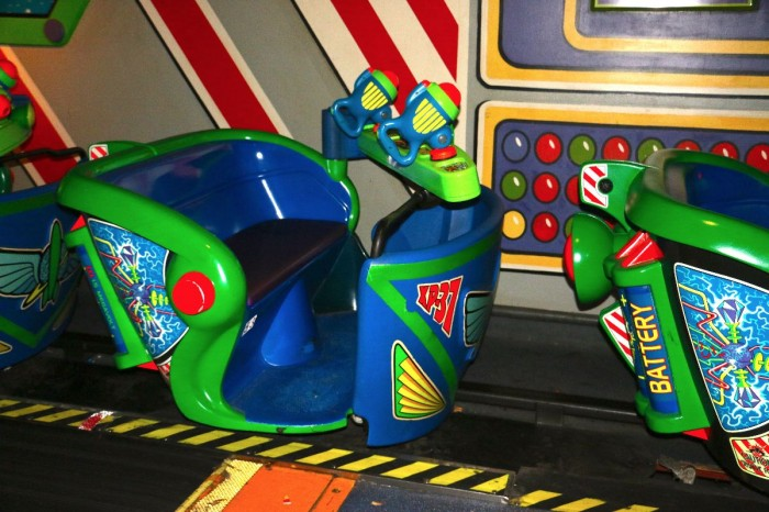 Buzz Lightyear Space Ranger Spin: a great way to hone your reflexes -- Photo © Erin Foster