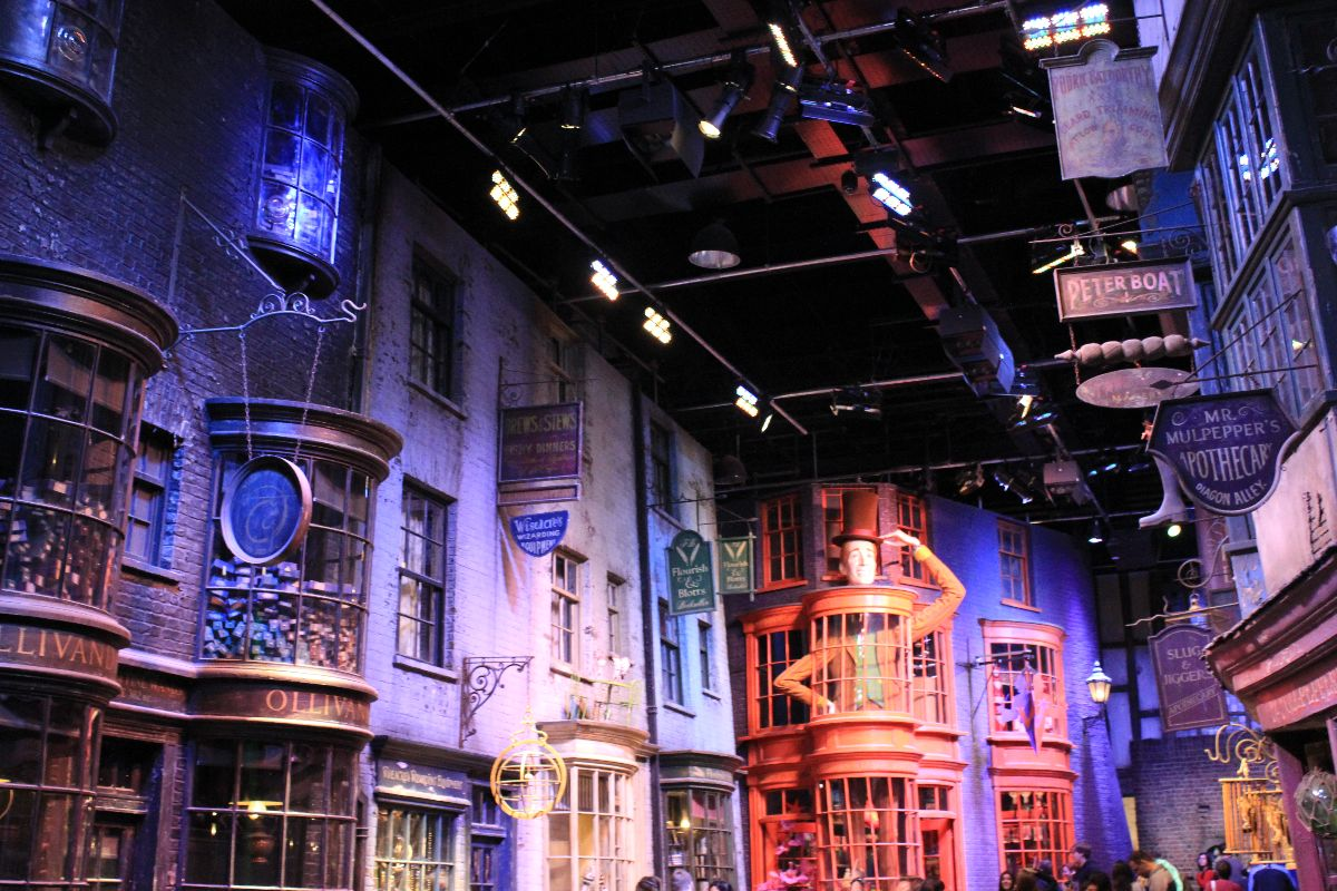 The actual Diagon Alley Set from the Warner Bros. Studio Tour