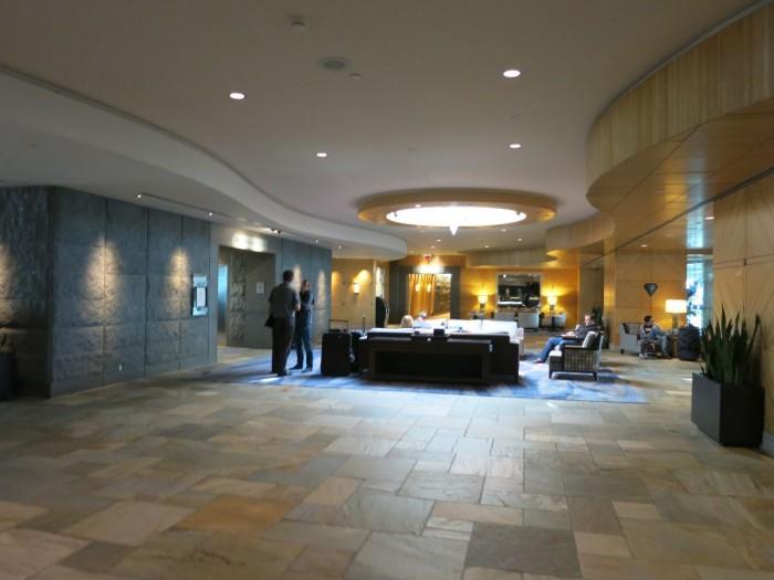 Spacious Fairmont Airport lobby