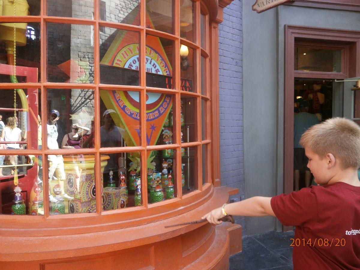 Kieran with his interactive wand